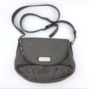 Marc Jacobs Leather Crossbody Bag Grey Purse Small